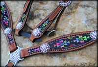 Tie Dye and Black Aztec Set