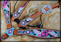 Cheetah Cross Aztec Set
