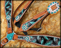 Feather Tack Set Round Conchos