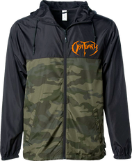 """Camo with Orange Logo"" Windbreaker"