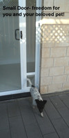 Small flap doggie door for sliding doors by Modern Pet Doors