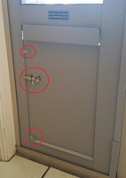 The unique triple point slide bolt lock on our steel powder coated lock panel secures the panel sideways into the pet door. Our sleek and modern design means no more unsightly grooves all the way round the flap like other pet doors.