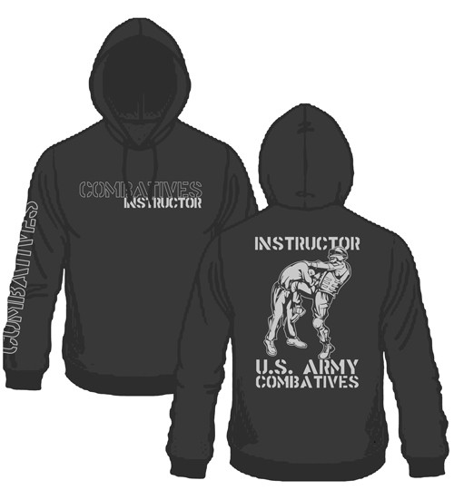 New Combatives Instructor Hoodie Black with Silver Ink
