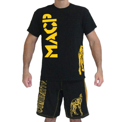 Black and Gold Knee Fight Shirt