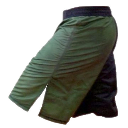 Black and Green Two Toned Blank MMA Shorts