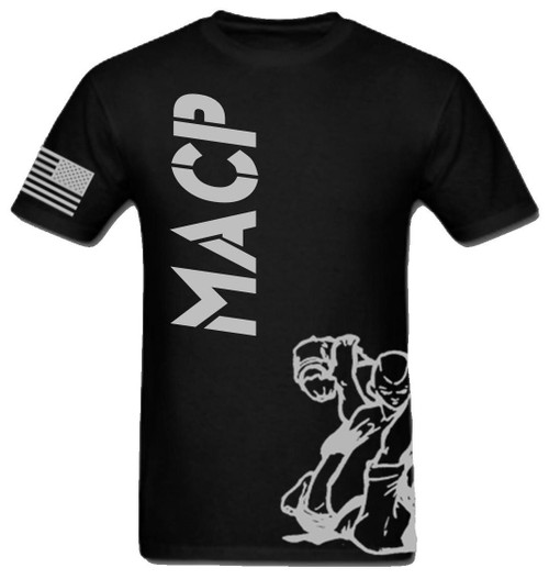 Black and Silver Fight Shirt