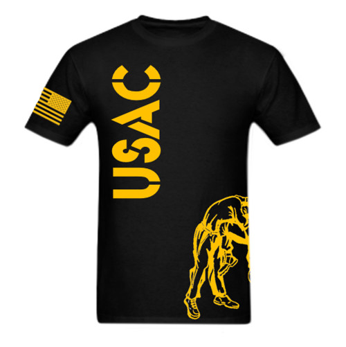 Black and Gold USAC Knee Fight Shirt