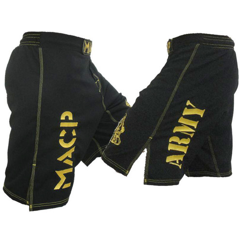 Black and Gold MACP Fight Shorts