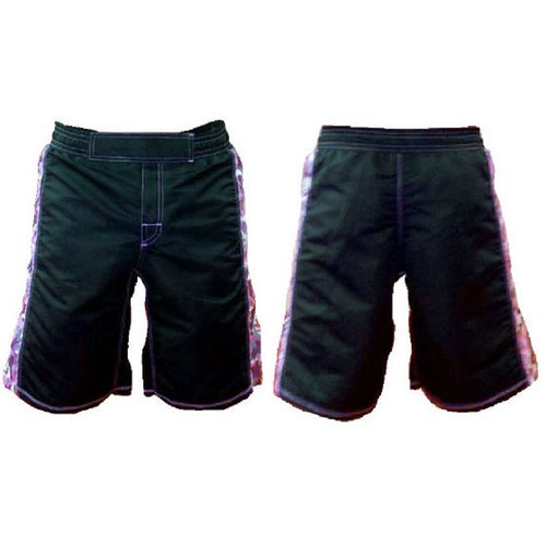 Black and Pink Camouflage MMA Shorts
