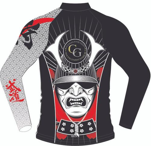 Combatives Gear Full Sleeve Samurai Kabuto Mask Rash Guard