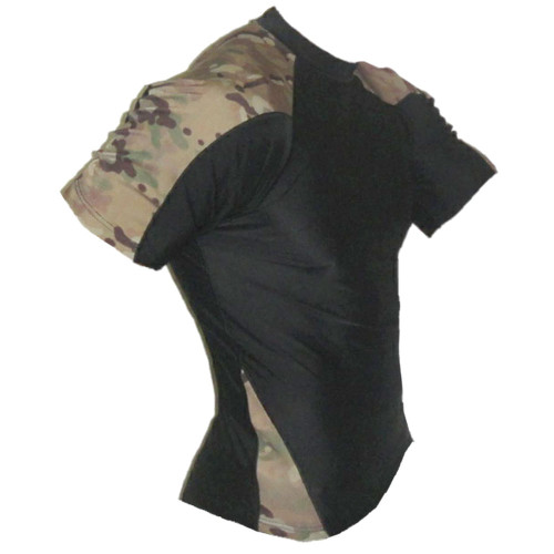 Black and Multicam Short Sleeve Rash Guard