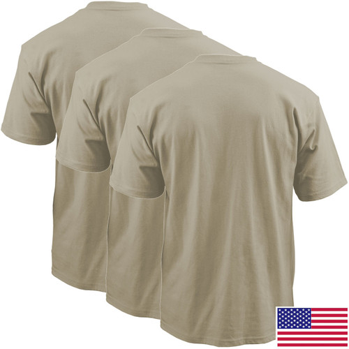Sand OCP T-Shirt, 100 Percent Cotton Poly 3-Pack