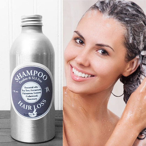 Natural Shampoo is made with specific essential oils to stimulate hair growth and prevent hair loss.