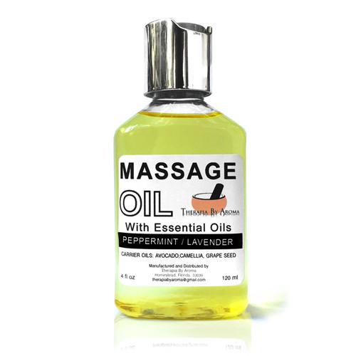 Peppermint Lavender massage oil