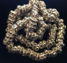 8mm Silver Plated Silver Stone Preciosa Czech Crystal Rhinestone Rondelle ( 1 Gross )