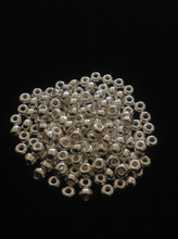6/0 Sterling Silver Plated Seed Beads ( 10 Grams )