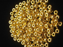 6/0 24K Gold Plated Seed Beads ( 10 Grams )