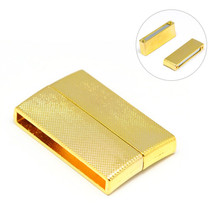 Alloy Magnetic Clasps, Rectangle, Golden, 40x24x7mm, Hole: 3X36mm  Weight: 1495 g