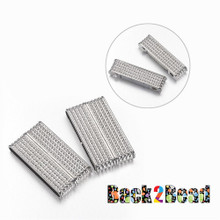 """ ChainMail "" Platinum Rectangle Size: about 19mm wide, 37.5mm long, 7mm thick, hole: 34x4mm"
