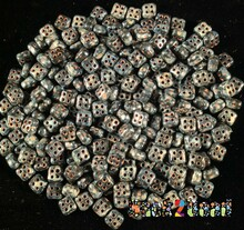 Jet Picasso 4Ceed© ( 2398-43400 ) 3x5 Four Hole Seed Bead ( 25 gram bag )