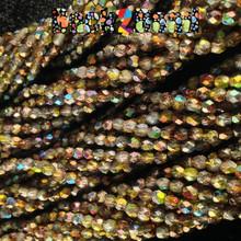 4mm Etch Crystal Magic Goblin ( 95400 - 85410 ) Fire Polish ( 600 Pieces )
