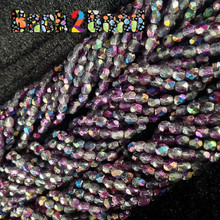 4mm Etch Crystal Magic Purple ( 95500 - 85410 ) Fire Polish ( 600 Pieces )