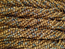 4mm Matt Gold ( OrO ) AB ( 01710 28701 ) Etch Fire Polish ( 600 pieces )