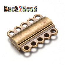 Antique Bronze, Rectangle Alloy Magnetic Clasps, 21mm long, 29mm wide, 6mm thick, hole: 2.5mm.