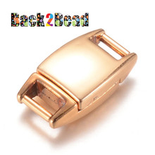 """ Prius "" Rose Gold Rectangle Alloy Magnetic Clasps, 19x10.5x6mm, Hole: 6x2mm"
