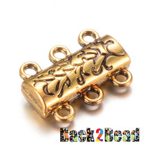""" Ivy's Sister "", Antique Gold Alloy Magnetic Clasps, 14mm long, 19mm wide, 6mm thick, hole: 2mm."