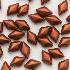 8x5 Old Copper Gem Duos ( .8MM Hole )