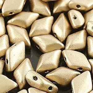 8x5 Matt OrO Gold Gem Duos ( .8MM Hole )