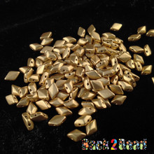 8x5 Matt OrO Gold Gem Duos 25 grams ( .8MM Hole )