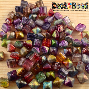 A incredible mixture of all the Crystal Magic colors, Etched beautiful Pyramids!