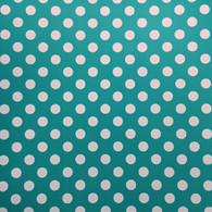 "White Polka on Mint (Matte) 12""x12"""