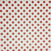 "Red Polka Dot on White (Gloss) 12""x 24"""