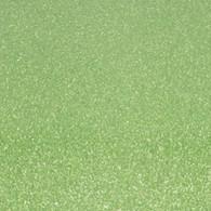 "Iron-on Light Green Glitter 9.875"" x 12"""