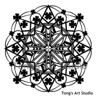 Instant Download-Mandala Style Paper Cut Pattern-007 (St. Patrick's Day)
