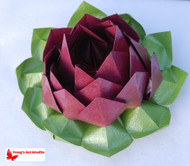 Large Origami Lotus Flower-Red