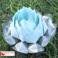 Large Origami Lotus Flower-Light Blue