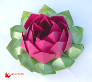 Large Origami Lotus Flower-Hot Pink
