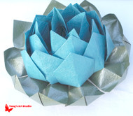 Large Origami Lotus Flower-Blue