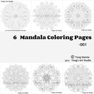 6 Mandala Coloring Pages -001
