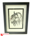 Horse paper cutting in a frame, Tong's art studio, Tong's paper cutting, black horse art, horse