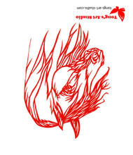 Horse paper cutting, Tong's art studio, Tong's paper cutting, red horse art, horse