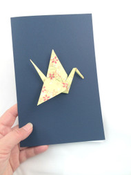 Beautiful Handmade Origami Crane Greeting Card-0004, greeting card for any occasions,