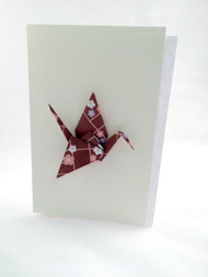 Beautiful Handmade Origami Crane Greeting Card-0010, greeting card for any occasions