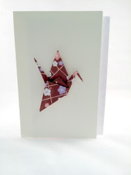 Beautiful Handmade Origami Crane Greeting Card-0012, greeting card for any occasions