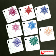 8 Printable Colorful Snowflake Gift Tags-Square Tags-01