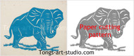 Elephant, pattern, elephant pattern, paper cutting template